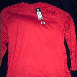 Under Armour Red Men's Long Sleeve Shirt sz XXL